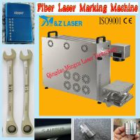 10W fiber laser marking machine with high quality for metals & NON-metals with CE & ISO