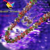 lava bead fashion jewelry elegant colorful earring necklace set for lady vintage jewelry near me
