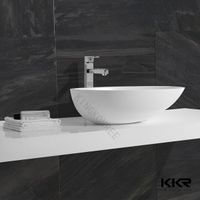 Sanitary ware bathroom stone resin wash basin cast stone basin marble stone