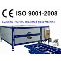 laminated glass furnace with automatic door and lifting table