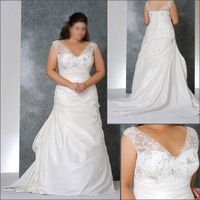 2010 New Halter Chiffon Plus Size Wedding Dress PL027