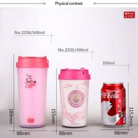 Hot sale double wall PP bpa free coffee cup