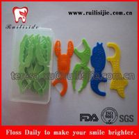 Dental Floss Toothpicks Bright Color Different Design Floss Picks