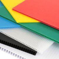 Plastic corrugated sheet