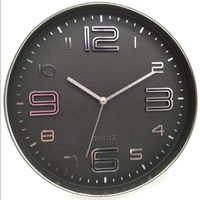 living room silver finish plastic wall clock