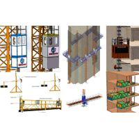 Low Cost vfd construction hoist for high rise building both passengers and materials