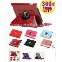 ipad 2 3 Leather case Crocodile grain holster three gear case Rotate 360 degrees