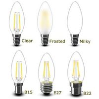 Led Bulb Filament Candle Dimmable Frosted Candelabra C35 E12 E27 Led Light Bulbs UL