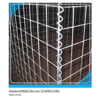 ASTM A 975 standard black pvc coated welded gabion box for trench