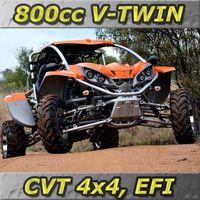 NEW - 800cc EFI V-TWIN, CVT 4x4 Go Kart (GK800-FS)