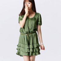 Fashion Personality  Zipper frilly dress
