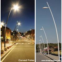 Curved light pole