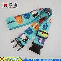 Cheap custom polyester print luggage belt & luggage strap
