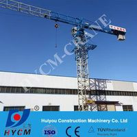 Flattop crane PT6016 with 60m boom length and Max.load of 10t