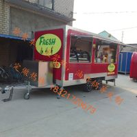 mobile double axles hot dog food truck trailer builder shanghai food trailer cart with generator box
