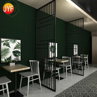 Black Stainless Steel Screen Partition