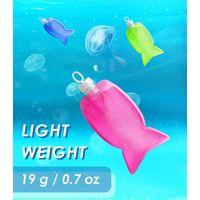 Eco-friendly TPE Flexible Water Bottle, Fish Shape, 200 ML