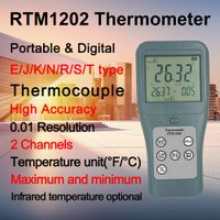 RTM1202 Infrared Temperature Portable Thermocouple Thermometer with High Accuracy 0.01 Resolution thumbnail image