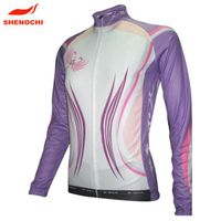 Custom sublimation cycling jersey long sleeve, sportswear cycling clothing