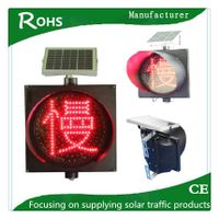 300mm slow down flashing solar LED safety road traffic light