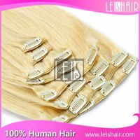 New Arrival Color 613# Extensions Hair Clip Human Hair