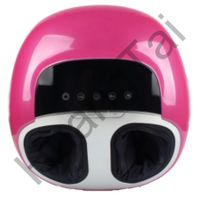 HT-F02 Pink Electric foot massager with fashionable design rolling,heating and air massage functions