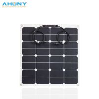 ETFE 50w flexible solar panel white colour long lifespan for camping rv marine boat yacht off grid thumbnail image