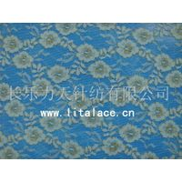 M1009 golden  lita spandex flower golden lace fabric thumbnail image