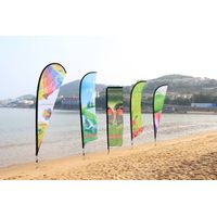 Popular outdoor beach flag banner for event display