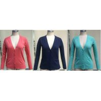 So brand stocklot on sales: 50,000pcs Juniors 100%cotton cardigan sweaters with hanger,12GG TC1-698 thumbnail image