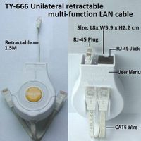 TY-666 Unilateral retractable multi-function LAN cable