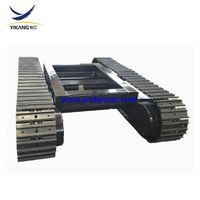 Customize produts 8 ton hydraulic rock drilling rig steel track undercarriage