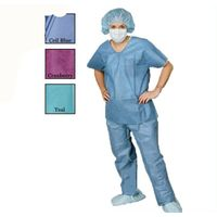 Disposable lightweight patient pyjamas homecare clothing unisex tunics