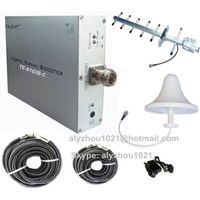 70dB CDMA 800/GSM 850MHz mobile signal booster repeater amplifier+yagi+dome antenna