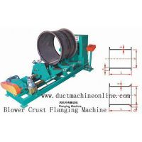 Blower crust flanging machine