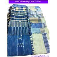 Indigo Blue Cotton Scarves