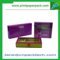 Custom Rigid Box Printed PVC Window Box Cosmetic Packaging Box Health Product Packing Box