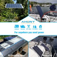 50w walk drive on semi rigid solar panel saltwater proof mono perc cell for boat marine yacht rv