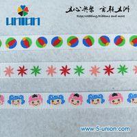 9mm small lovely printed ribbon 3/8 inch grosgrain printed ribbon