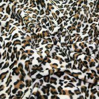 100% polyester animal print minky fleece
