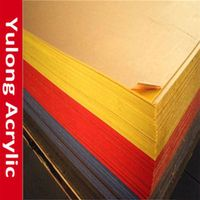 Cut to size color and clear acrylic sheet