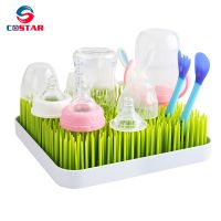 Plastic Baby Bottle Drying Rack Square Large Countertop Drainer Mat Dryer Stand for Infant bottles