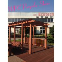 Anti-aging wpc weatherproof wood composite outdoor gazebo pergolas price
