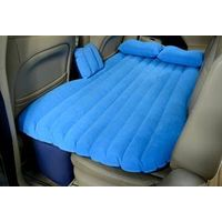 Durable inflatable pvc flocking car backseat mattress