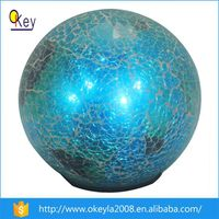 Light Up Christmas LED Light Crackle Ball Solar Stake Light