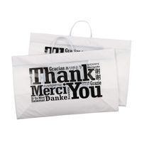 Thank You Plastic Bags With Rigid Handles thumbnail image
