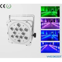 12 Lens RGBWA Five Color 5W 5in1 Rechargeable Wireless DMX LED Slim Par