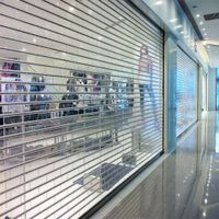 100% transparent polycarbonate roller shutter door, factory from China thumbnail image