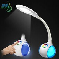 Manjia MJ-T6 LED Table Lamp Touch Dimming Study/Office reading lamp and Night Light with many color