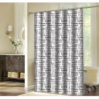 New pattern printing polyester shower curtain